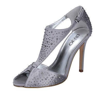 scarpe donna LIU JO 36 EU sandali argento raso strass BZ123 C | eBay