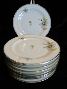 ANTIQUE P.T. BAVARIA TIRSCHENREUTH GERMANY US ZONE TIR561 11 BREAD BUTTER PLATES