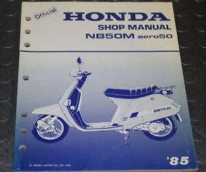 NOS OEM Honda Service Shop Manual NEW 85 NB50M aero50