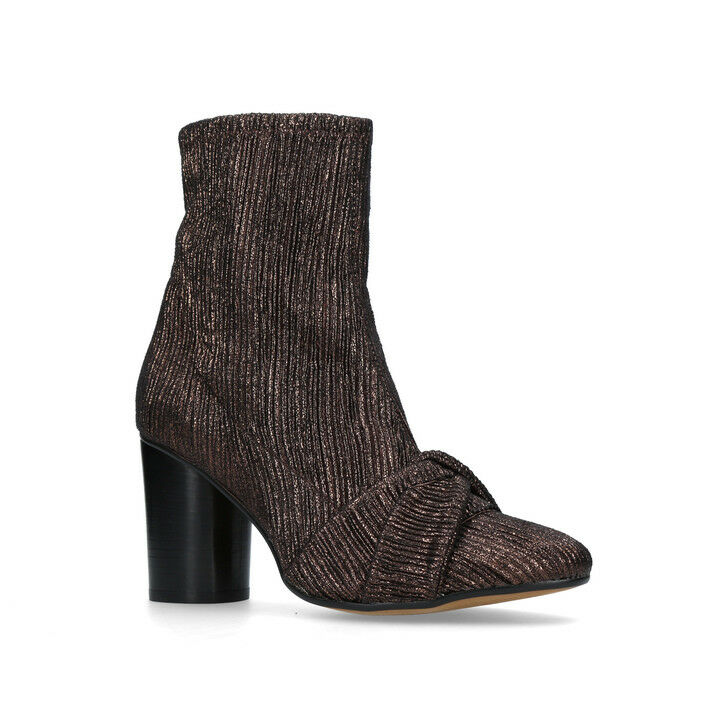 H By Hudson Camille Bronze Calf Stretch Block Heeled Ankle 7 Smart Stiefel 3 - 7 Ankle New e13cf8