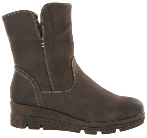 Over Warm Winter Ankle Italian Uk Flat Snow Boots 8 Fold Lined Womens Cipriata 3 x0pwnaqB6B