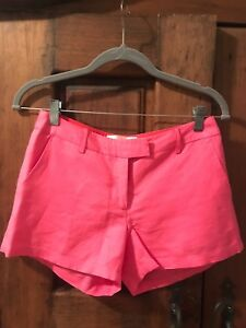 Shorts Julie in 2 scuro Mid Rise taglia Nyc lino Brown rosa 66IFr