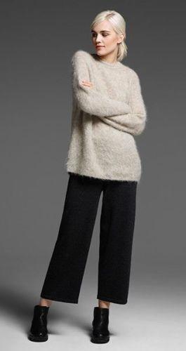BNWT  Eileen Fisher Italian Merino Jersey Straight Cropped CHARCOAL Pants 1X
