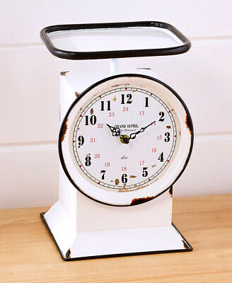 Unique VINTAGE WEIGHT SCALE CLOCK Cafe Kitchen Dining Distress Retro Chef Cook