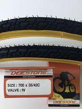 """2 Copertoni Kenda 700x28 Kwest Crema 2 Camere d/'aria per bici 28/"""" City Bike"""