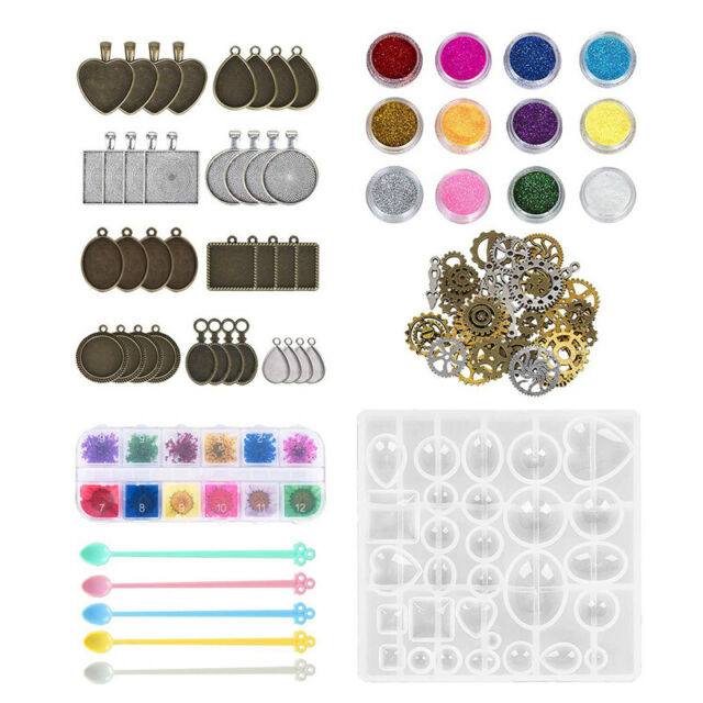 75x DIY Resin Casting Molds Silicone Moulds Pendant Trays Jewelry Making Craf CC