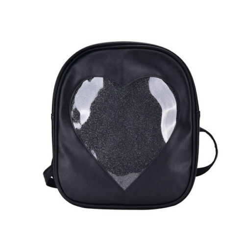 6 Colors CLEAR ita bag Transparent Pin Display Backpack For Kid Heart School Bag
