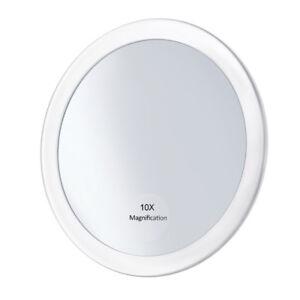 Espejo de Maquillaje 10X Aumento sin Base con Ventosa Pared para Baño Dormitorio