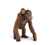 Orangutan Mother W/baby Replica 293529 Free Ship/usa W/$25 Safari Products