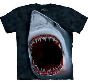 THE-MOUNTAIN-GREAT-WHITE-SHARK-JAWS-FISH-BIG-FACE-T-SHIRT