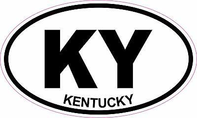 Kentucky State Oval Sticker Decal Vinyl KY
