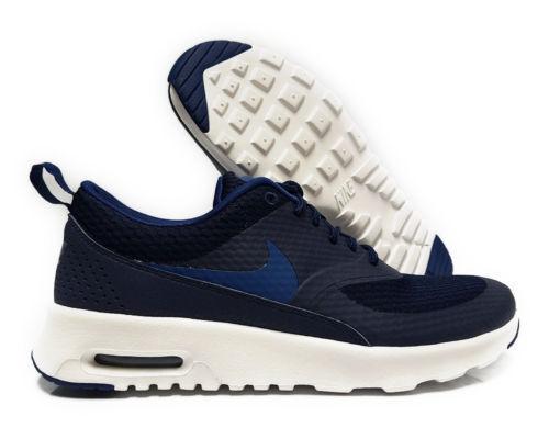 Nike 819639-401 Femme Air Max Thea TXT Obsidian/Bleu/blanc SZ 6 fonctionnement chaussures