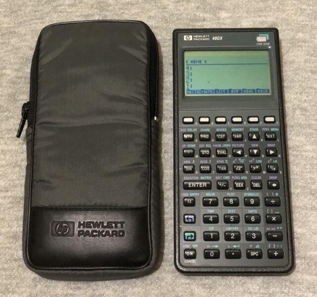 hp 48gx calculator 128k ram with case manuals ebay rh ebay com hp 48gx user manual hp 48g calculator manual