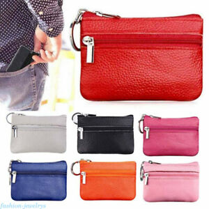 Men-Women-Soft-Leather-Card-Coin-Bag-Key-Holder-Zip-Wallet-Pouch-Purse-Wallet