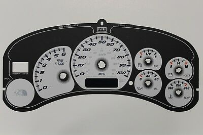 99 5-02 THE NORTH FACE INSTRUMENT CLUSTER WHITE GAUGE FACE BACKGROUND PART  ONLY   eBay
