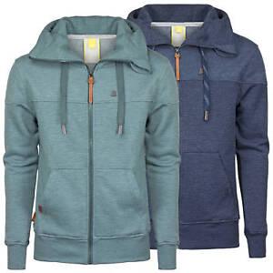 big sale 68475 f669f Details zu ALIFE AND KICKIN Herren Sweatjacke Sweater Sweatshirt Jacke mit  Kapuze Streifen