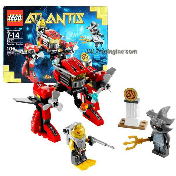 NEW 2011 LEGO Atlantis Series Set  7977 SEABED STRIDER Hammerhead+Diver Figure