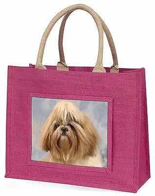 Shih Tzu Hund Große Rosa Einkaufstasche Weihnachten Geschenkidee, AD-SZ9BLP