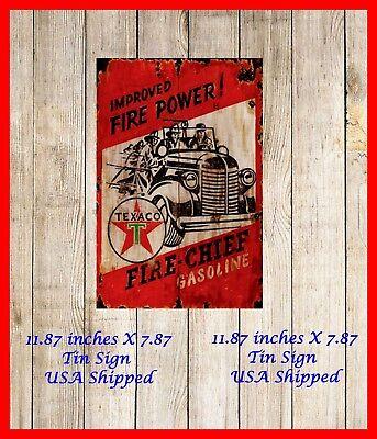 Texaco Fire Chief GAS 4X6 Fridge Magnet Refrigerator Man Cave Decor SIGN BAR