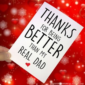 de-Padre-Tarjeta-Dia-PADRASTRO-THANKS-FOR-BEING-BETTER-THAN-MY-Autentico-Pc125