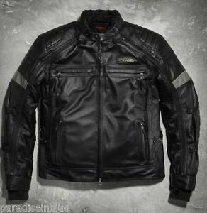 Harley-Davidson-Men-039-s-FXRG-Black-Switchback-Leather-Jacket-98095-15VM-S-M-XL-3XL