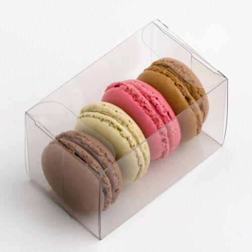 Clear Macaron//Macaron Boîtes Plain ou insère faveur Coffrets Cadeaux CASE seulement