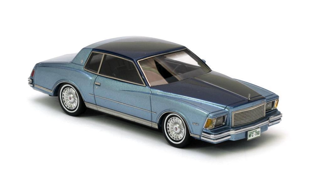 Chevrolet Monte Carlo  bleu bleu Metallic  1978 (Neo Scale 1 43   44790)