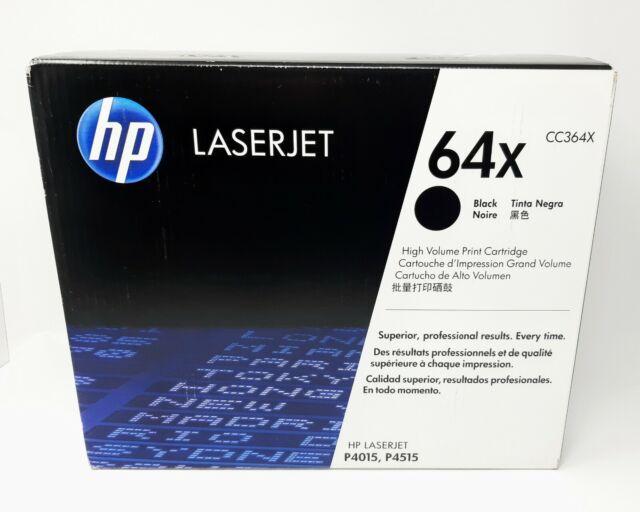 HP 64X black High Yield Toner Cartridge CC364X Genuine NEW & SEALED!