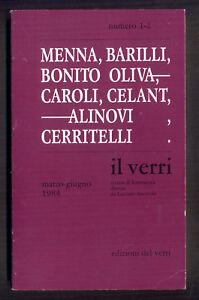 IL VERRI settima serie n. 1 e 2  marzo giugno 1984  edizioni del verri