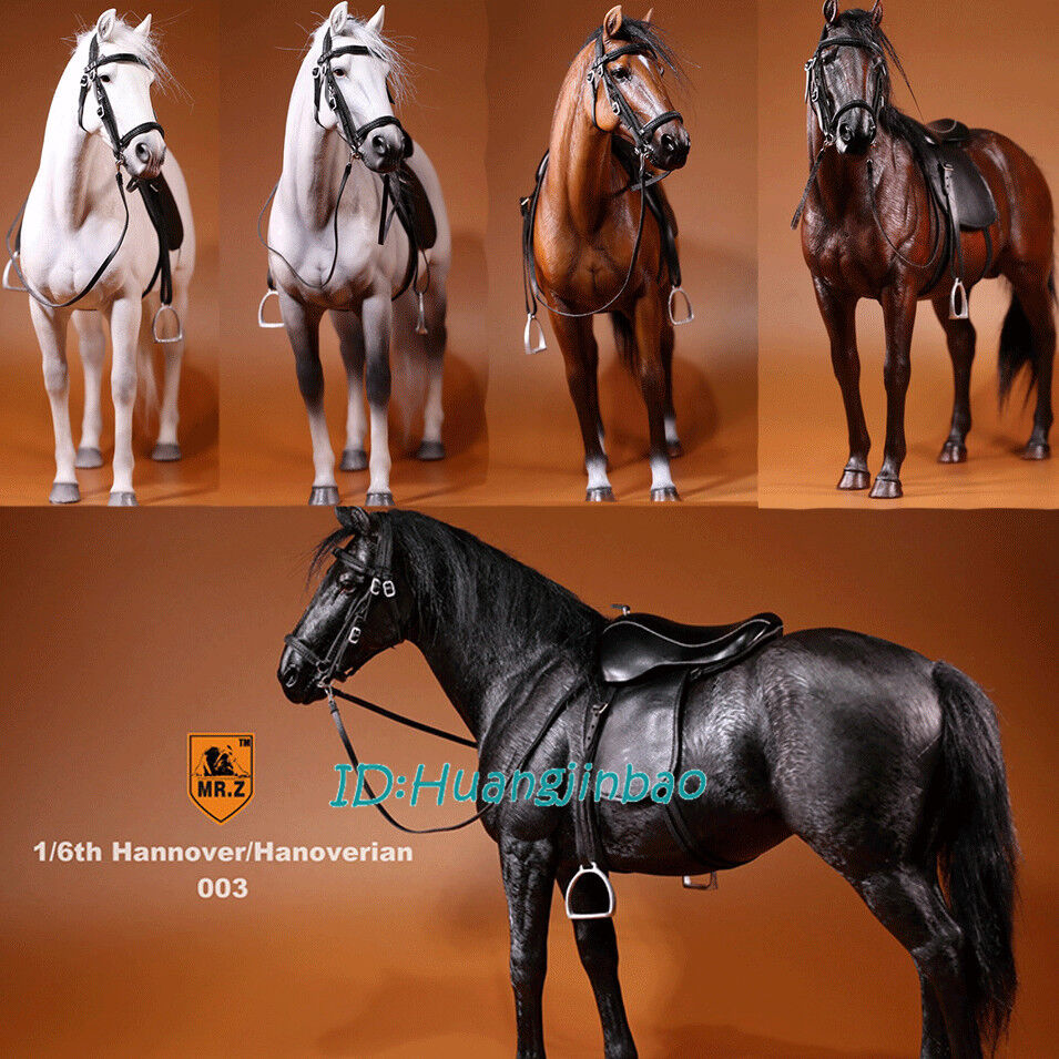 1 6th Hannover Hanoverian Figure Model Display Resin Statue Harness Included New