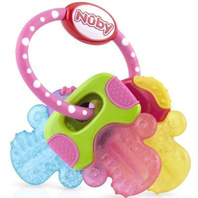 Nuby coolbite Natural Touch gell teething keys pink or blue