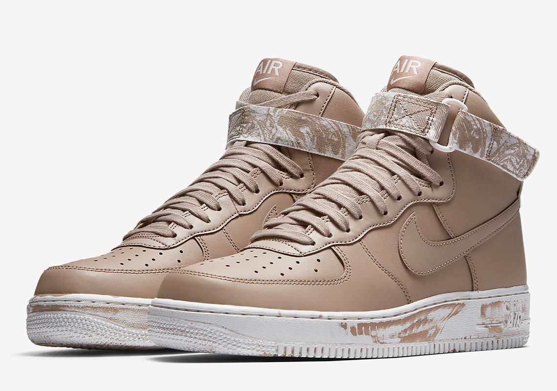 Nike air force 1 hi af1 cuoio beige sabbia mimetica, marrone, militare at3293-200 sz 12,5