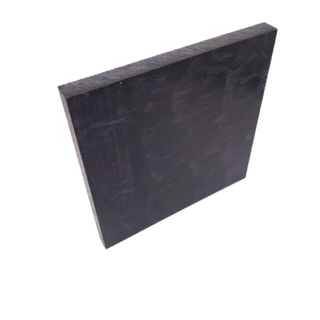 Acetal POM Sheet Polyoxymethylene Plate Sheet 100 x 100 x 5mm Black 4 Pcs