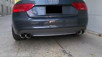 2 Stainless Steel Dual Exhaust Tips 4.0 2.5 Audi S5 Pair 2.5 4.0