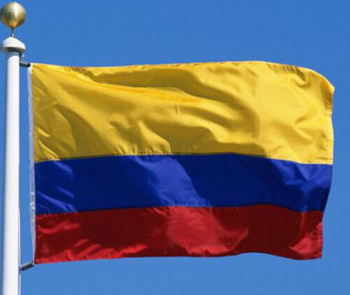 NEW 3X5 ft COLOMBIA COLOMBIAN FLAG WITH BRASS GROMMETS