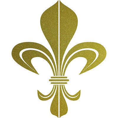 Bourbon Lilie 30cm Gold Aufkleber Tattoo Auto Tür Schrank Fenster Deko Folie Stabile Konstruktion