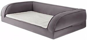 Divano In Memory Foam.Big Orthopaedic Dog Bed Sofa Soft Memory Foam Mattress Pet Hygienic