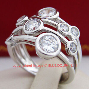 Antique-Genuine-Solid-9ct-White-Gold-Engagement-Wedding-Rings-Simulated-Diamonds
