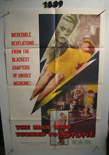 Man Who Turned to Stone Original 1sh Movie Poster '57 Victor Jory unholy medicin