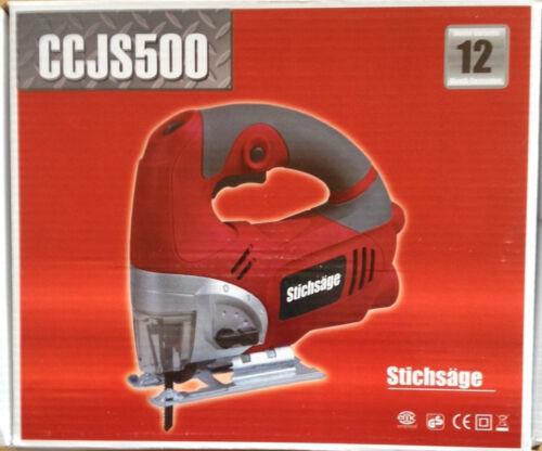 Stichsäge 500W grau 10 Sägeblätter Holz-Metall PENDELHUBSÄGE Stich-Säge rot