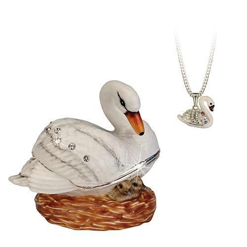 Hidden Treasures Swan Trinket Box NEW in Gift Box Secrets