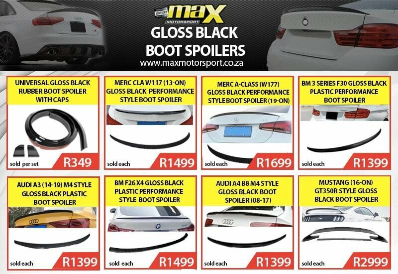 HUGE RANGE OF GLOSS BLACK BOOT SPOILERS NOW AVAILABLE.