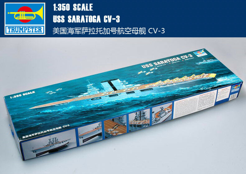 USS SARATOGA CV-3 1 350 ship Trumpeter model kit 05607