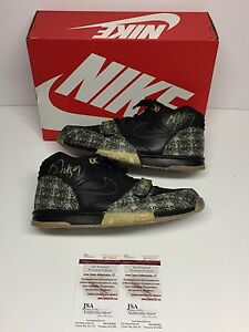 Bo Jackson Dual Signed Nike Air Trainer 1 PRM QS *Paid In Full* Shoes JSA