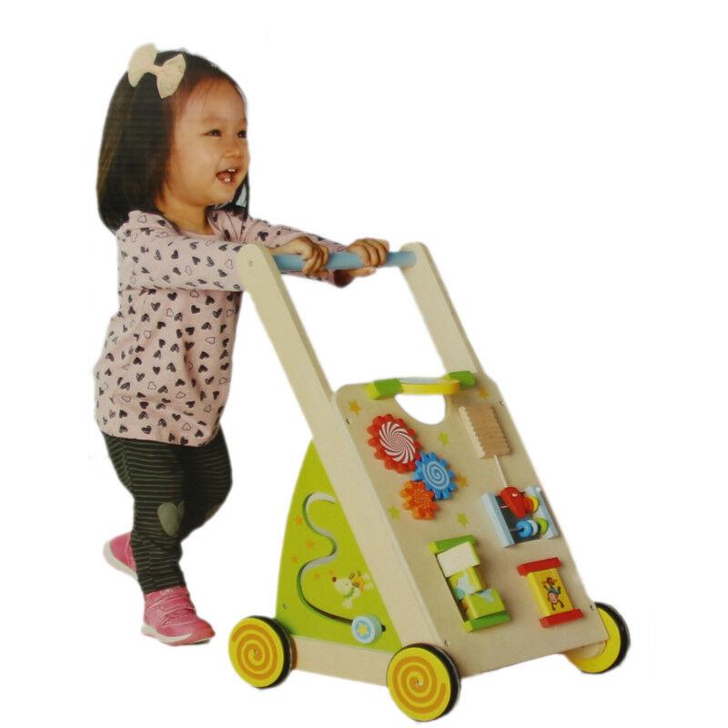 Lauflernwagen Holz Baby Lernhilfe Laufwagen  Walker Lauflernhilfe Gehfrei  | Exquisite (in) Verarbeitung