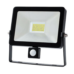 10-20-30-50W-LED-LUCE-FARO-LAMPADA-DA-LAVORO-Sensore-PIR-FARETTO-Emergenza-LAMPA