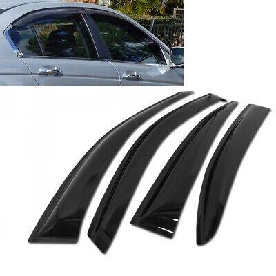 For 2008-2012 Nissan Rogue 4pcs Smoke Acrylic Window Sun Rain Visors Wind Guard