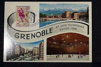 Maximumkarten Honig Olympische Spiele Winter Grenoble Frankreich Postkarte Maximum Fdc Yt 1544 Ef