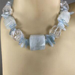 Chunky Aquamarine Necklace