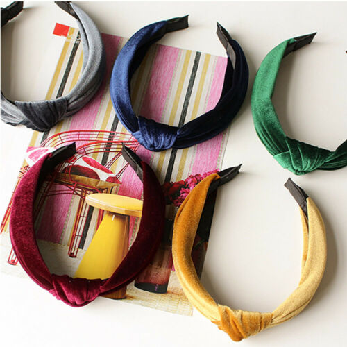 Hot Ladies Hairband Velvet Cross Tie Hair Hoop Headband Women Hair Accessories